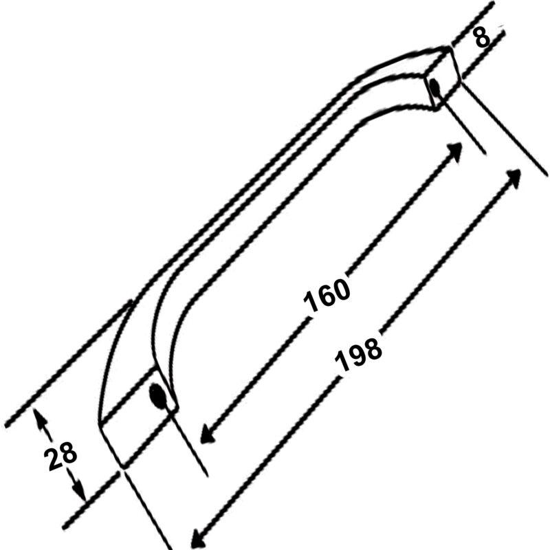 Dorset Prato Matt Black Contemporary Round D Handles Zinc Alloy 160mm D Pull Handle Dst Pb978 160 Mb Dimensions