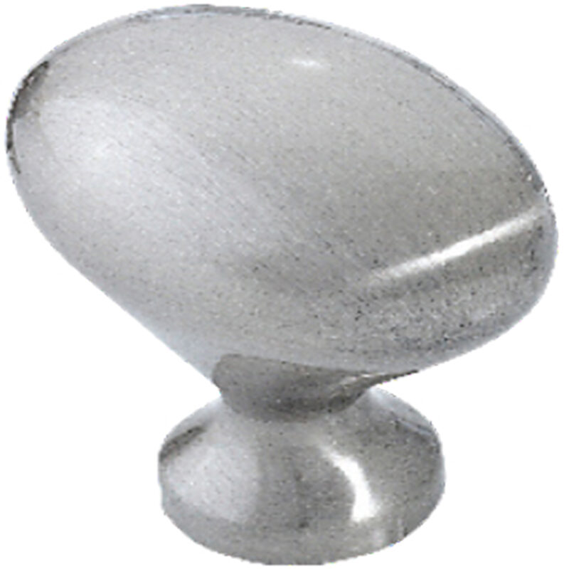 Furnware Dorset Asti Collection Brushed Nickel 30mm Small Oval Knob Dst Oks 30 Brn2