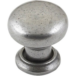 Furnware Dorset Bordeaux Collection Pewter 35mm Cast Iron Round Mushroom Knob Kb3624 35 Pw 3