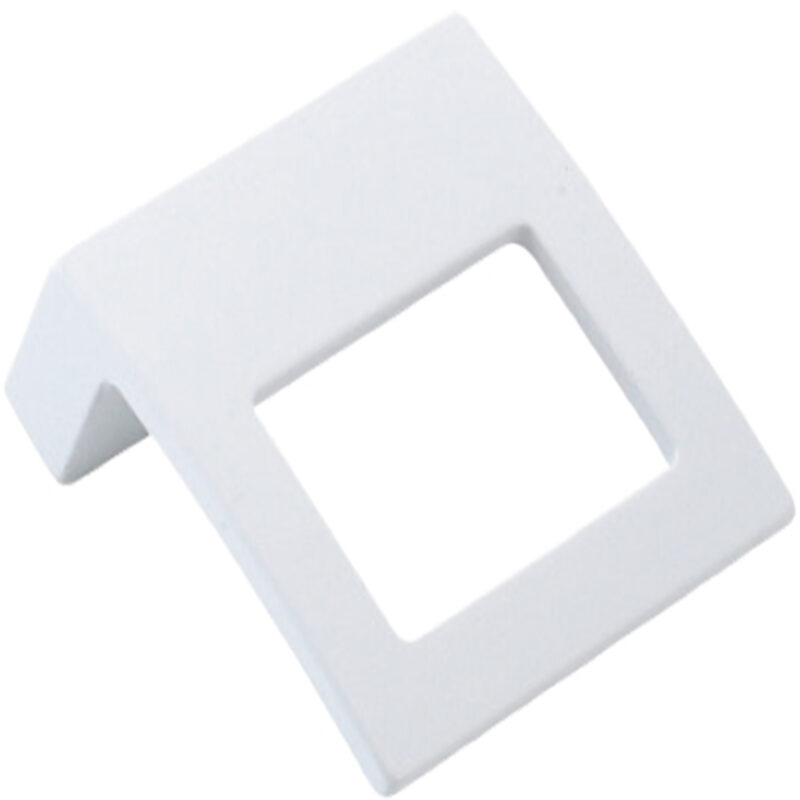 Furnware Dorset Cosenza Collection 32mm White Square Pull Handle Dst K353 32 Wh