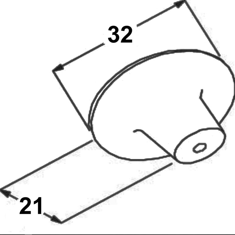 Furnware Dorset Iron Bridge 32mm Cast Iron Round Concentric Knob Dst Tbp120 32 Ni Diagram