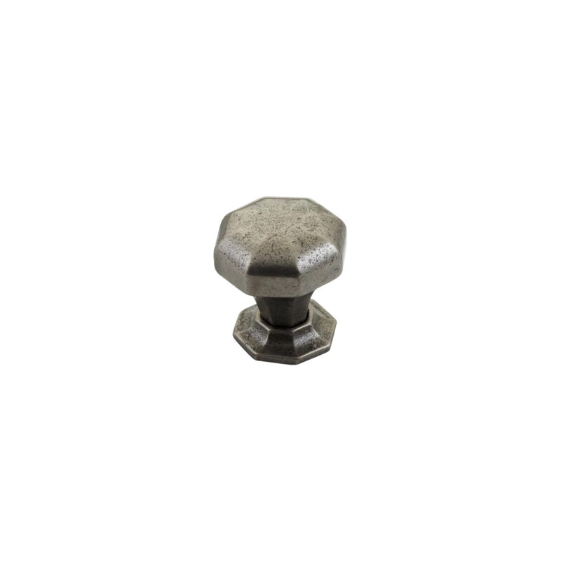 Furnware Dorset Montrose Collection Pewter Finish 32mm Cast Iron Octagonal Knob Dst Kb3885 32 Pw 1