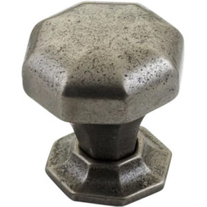 Furnware Dorset Montrose Collection Pewter Finish 32mm Cast Iron Octagonal Knob Dst Kb3885 32 Pw