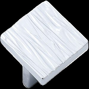 Furnware Dorset Cologne Collection White 50mm Small Square Ripple Knob