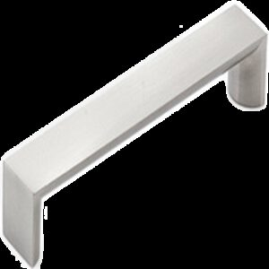 Furnware Dorset Boston Collection Dull Brushed Nickel 128mm Wide Square D Pull Handle