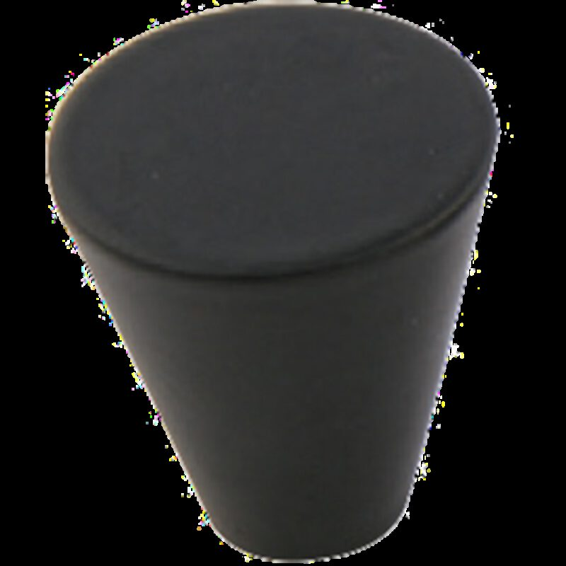 Furnware Dorset Evora Collection Black 19mm Small Cone Knob