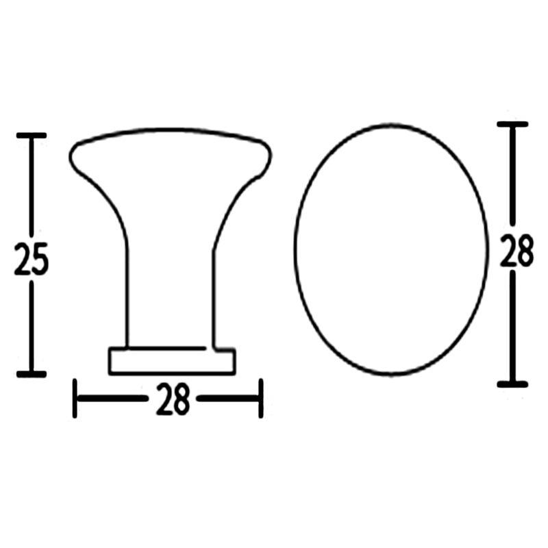 Brushed Nickel 28mm Round Concave Edge Knob Fdm 7057 28 Brn Ch Diagram