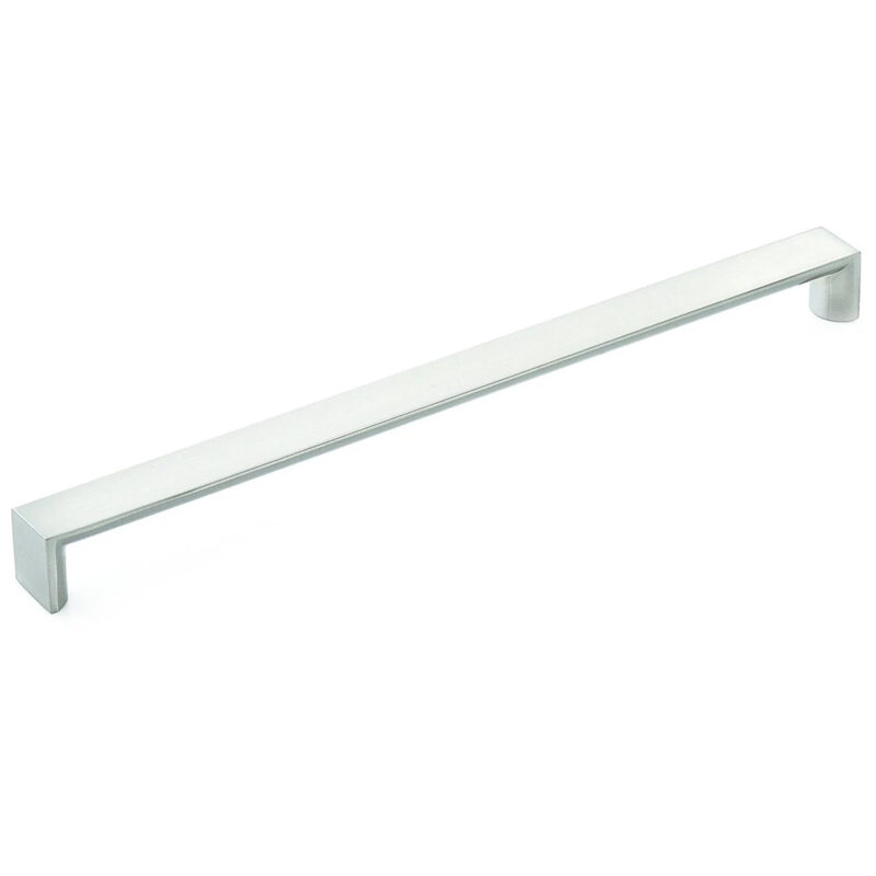 Furnware Dorset Boston Collection Dull Brushed Nickel 288mm Wide Square D Pull Handle Dst Wfdh288 Dbr 1