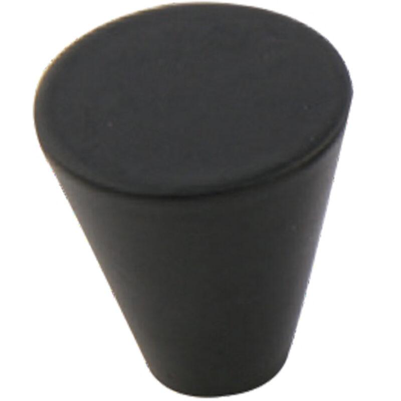 Furnware Dorset Evora Black 19mm Cone Knob Dst Dc1219 Bl 2