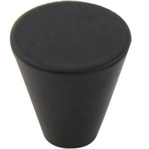 Furnware Dorset Evora Black 19mm Cone Knob Dst Dc1219 Bl