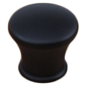 Matt Black 28mm Round Concave Edge Knob Fdm 7057 28 Mb Ch
