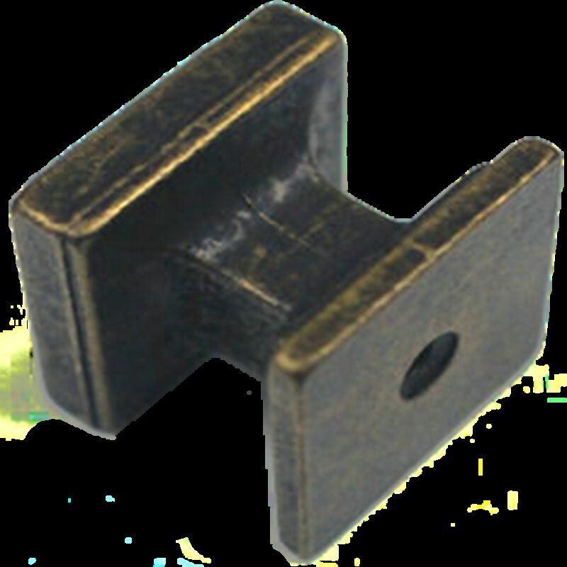 Ashenvale Roman Square Pillar Antique Brass 25mm Knob