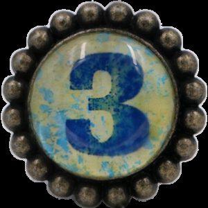4932 Ashenvale Varema Vintage Patina Number Series Three Antique Brass 42mm Round Glass Knob