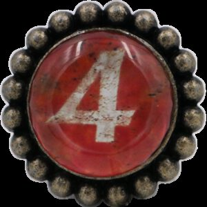 Ashenvale Varema Vintage Patina Number Series Four Antique Brass 42mm Round Glass Knob