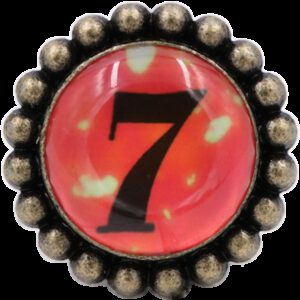 Ashenvale Varema Vintage Patina Number Series Seven Antique Brass 42mm Round Glass Knob