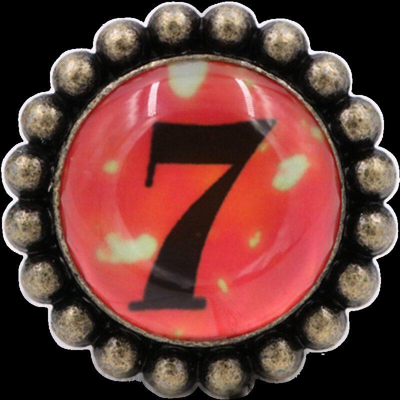 4968 Ashenvale Varema Vintage Patina Number Series Seven Antique Brass 42mm Round Glass Knob