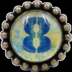 4975 Ashenvale Varema Vintage Patina Number Series Eight Antique Brass 42mm Round Glass Knob