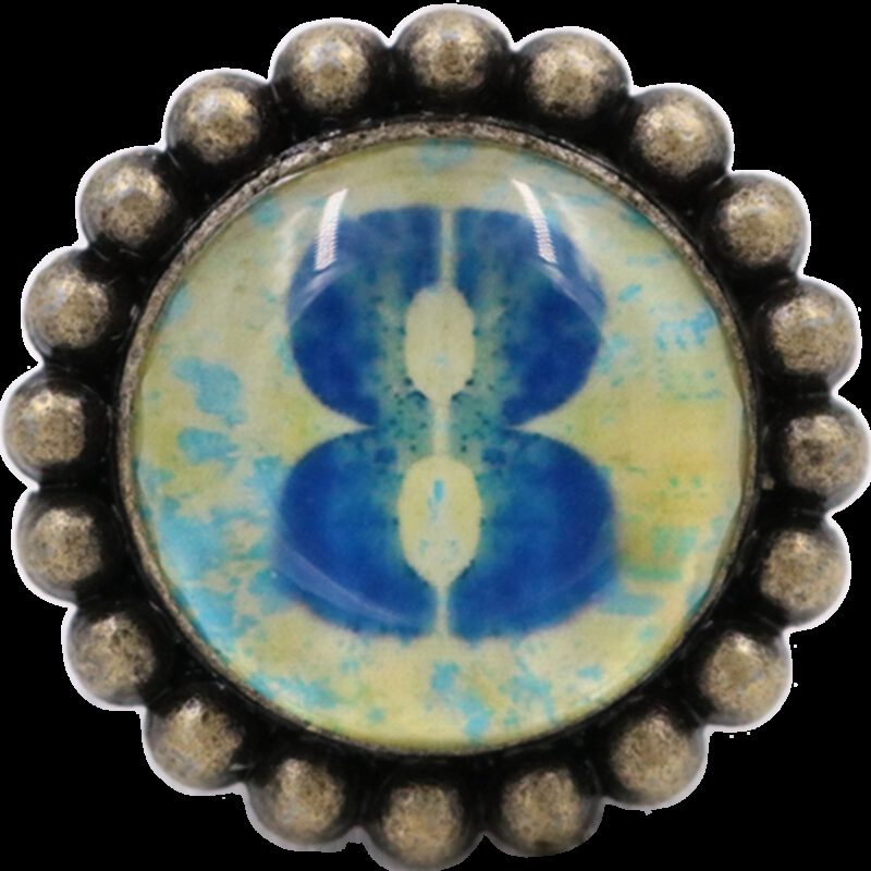 4975 Ashenvale Varema Vintage Patina Number Series Eight Antique Brass 42mm Round Glass Knob