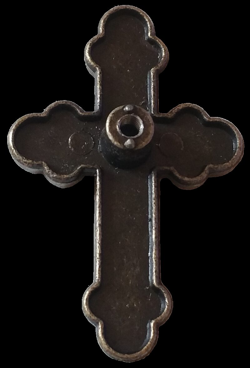 5019 Ashenvale Antique Brass 60mm Cross Bottony Knob