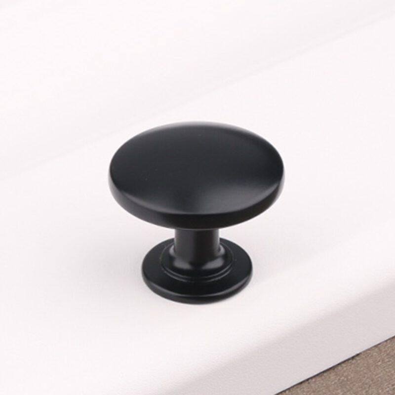 5056 Sencillo Eleganta Karama Collection Matte Black 30mm Round Knob