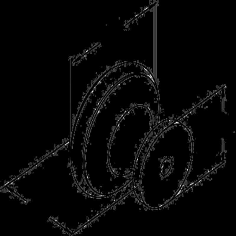 5063 Sencillo Eleganta Karama Collection Matte Black 35mm Large Round Knob