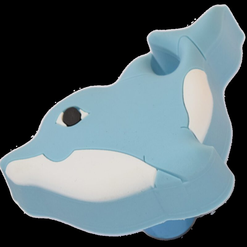 Adorable Light Blue and White Dolphin 62mm Soft Plastic Knob