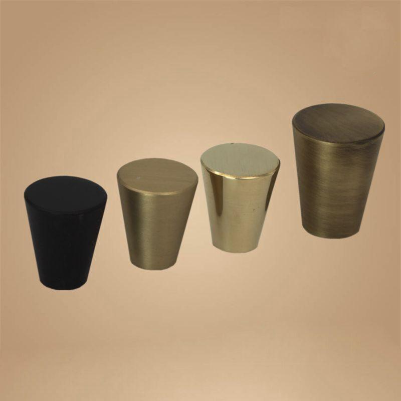 5069 Zen Pure Black 17mm Fine Cone Solid Brass Knob