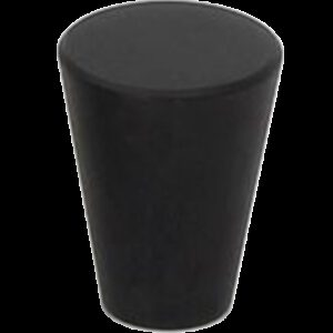 5074 Zen Pure Black 17mm Fine Cone Solid Brass Knob