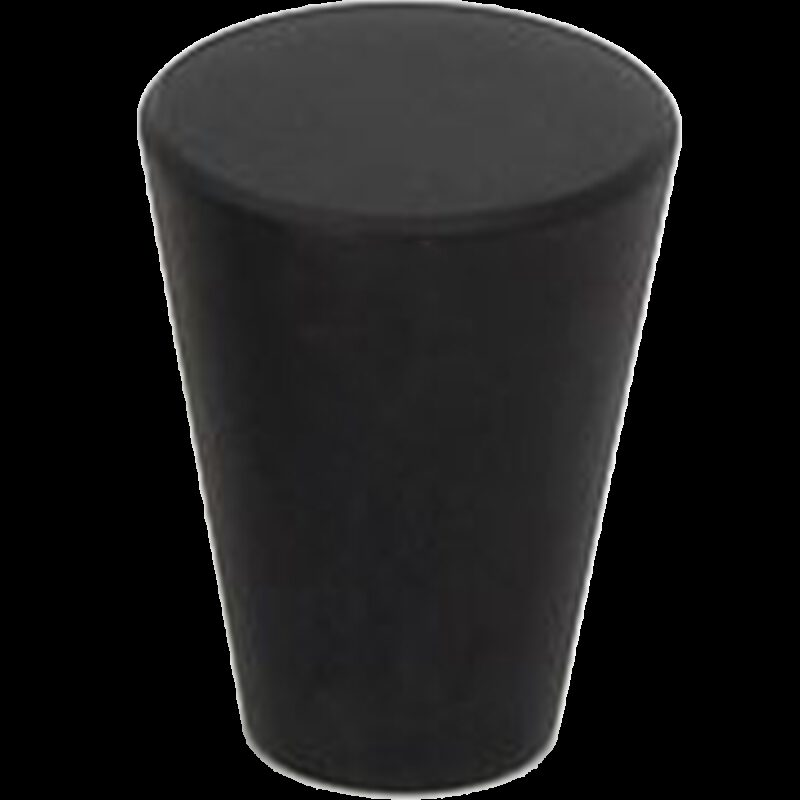 5074 Zen Pure Black 17mm Fine Cone Solid Brass Knob