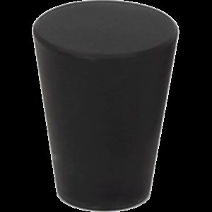 5079 Zen Pure Black 20mm Large Cone Solid Brass Knob