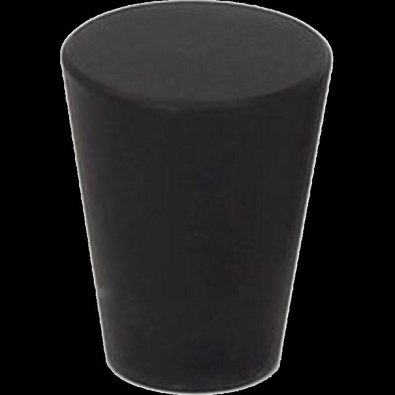 5079 Zen Pure Black 20mm Large Cone Solid Brass Knob