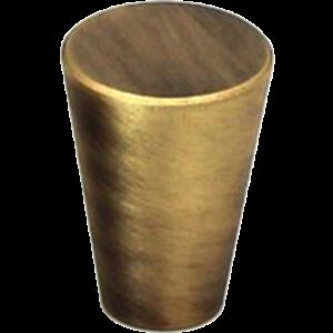 5082 Zen Antique Bronze 17mm Fine Cone Solid Brass Knob