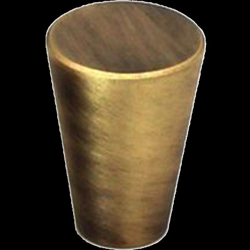 5082 Zen Antique Bronze 17mm Fine Cone Solid Brass Knob