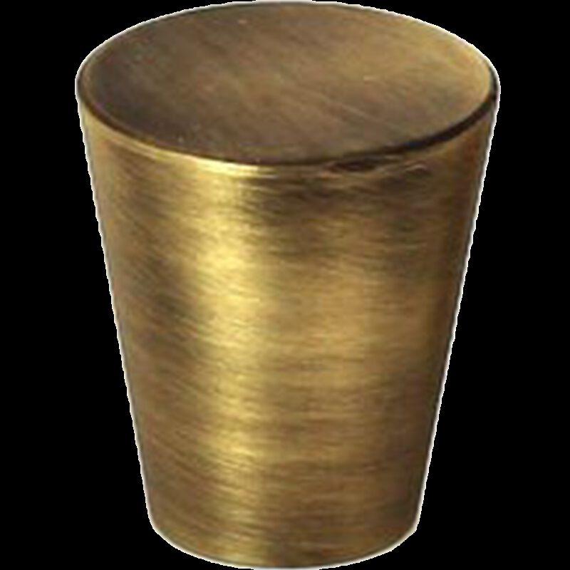 Zen Antique Bronze 20mm Large Cone Solid Brass Knob