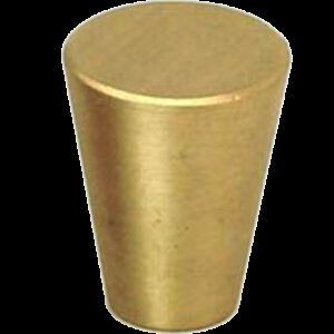 5094 Zen Brushed Gold 17mm Fine Cone Solid Brass Knob