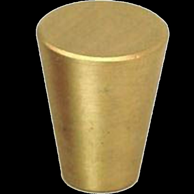 Zen Brushed Gold 17mm Fine Cone Solid Brass Knob