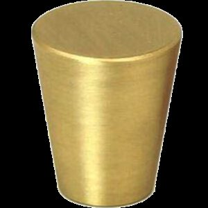 5099 Zen Brushed Gold 20mm Large Cone Solid Brass Knob