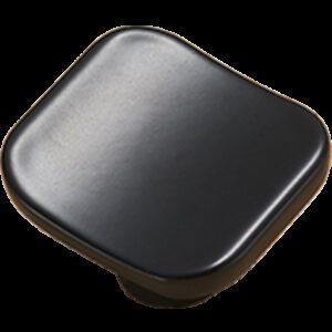 5113 Sencillo Eleganta Karama Collection Matte Black 30mm Rectangle Concave Knob