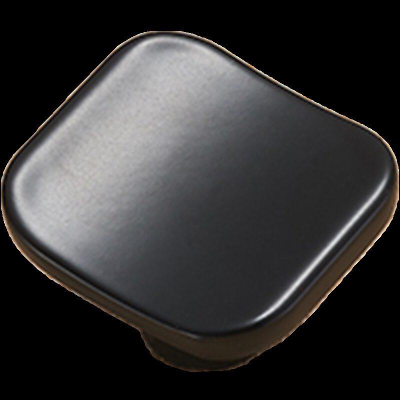 Sencillo Eleganta Karama Collection Matte Black 30mm Rectangle Concave Knob