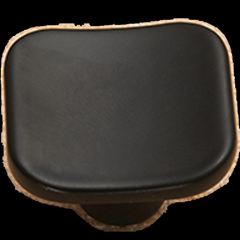 5114 Sencillo Eleganta Karama Collection Matte Black 30mm Rectangle Concave Knob