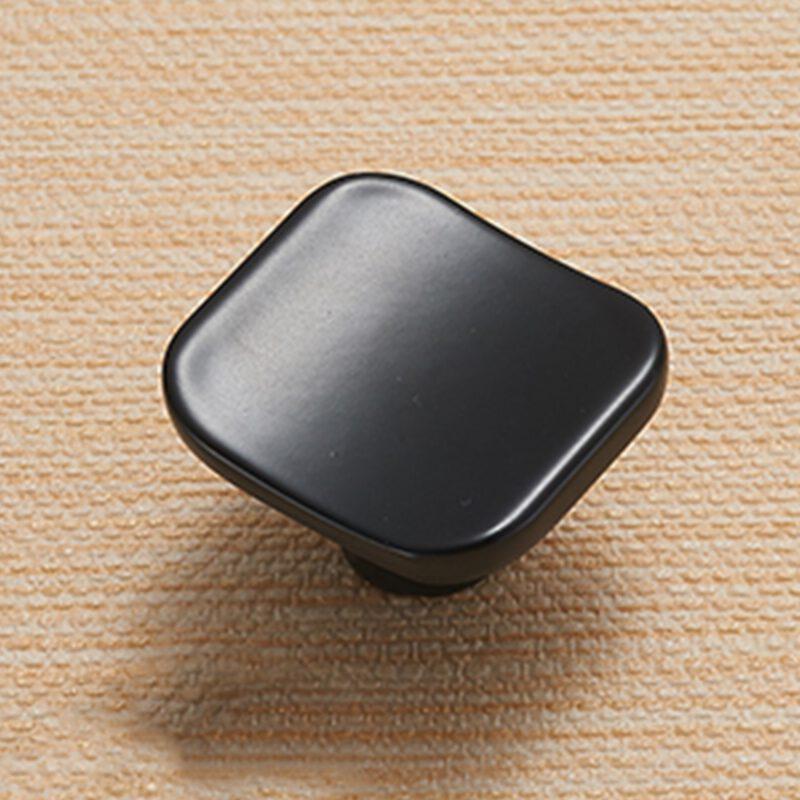 5117 Sencillo Eleganta Karama Collection Matte Black 30mm Rectangle Concave Knob