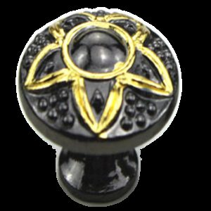 5120 Five Pointed Golden Star On Black Nickel 23mm Small Round Knob
