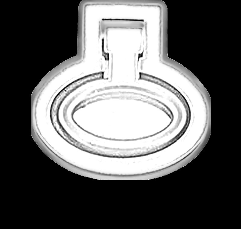 5148 Small Town Collection Antique Silver 32mm Recessed Inset Swivel Ring Drop Pull