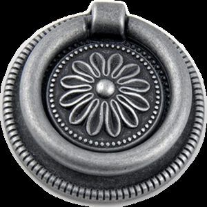 5155 Small Town Collection Pewter Sunflower 54mm Swivel Round Ring Drop Pull