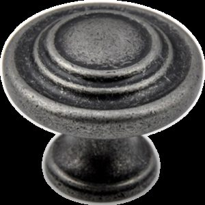 5173 Small Town Collection Pewter 33mm Contentric Fluted Round Knob