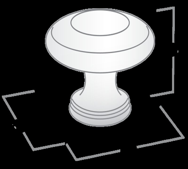Small Town Collection Pewter 33mm Contentric Fluted Round Knob
