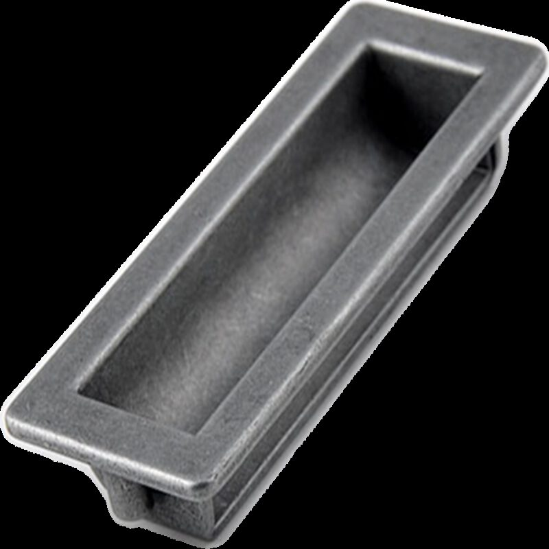 5189 Small Town Collection Pewter 100mm Recessed Flush Pull