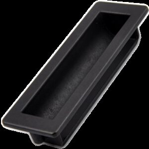 5205 Small Town Collection Antique Iron Black 100mm Recessed Flush Pull
