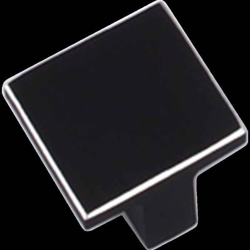 Kassina Brushed Matte Black with Aluminium Highlight 16mm Square T Knob