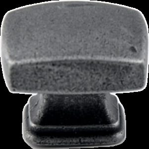 5227 Small Town Collection Pewter 30mm Rectangle Knob